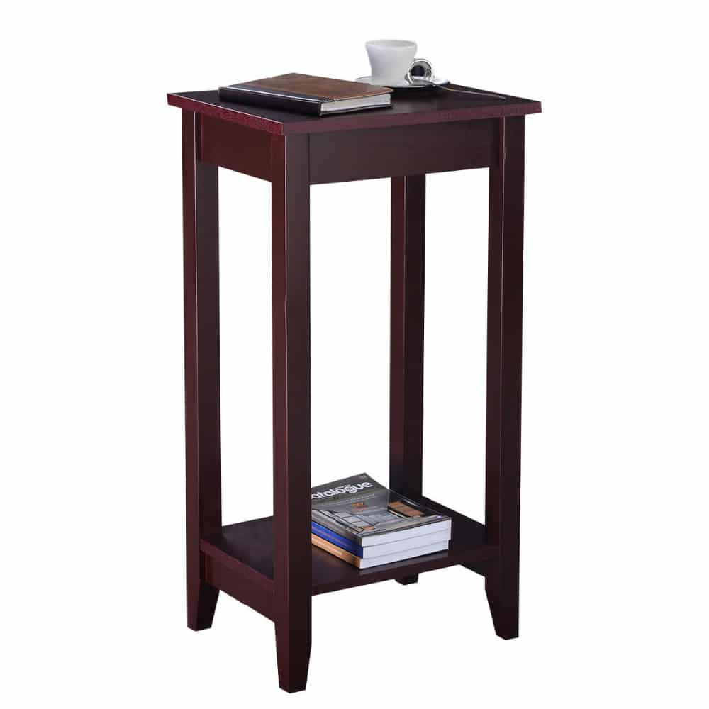 Tall Table Wooden Tall End Table For Bedroom & Living Room – Borkut