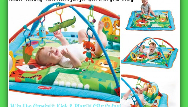 Win the Tiny Love Gymini® Kick & Play™ City Safari with 3 Modes of Use for Babies 0-12 Months!