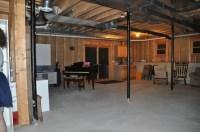 Unfinished basement Pleasant Home Design