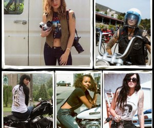 FIVE WOMEN, THEIR HARLEYS AND A CAMERA: