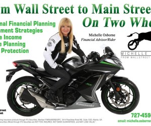 FROM WALL STREET TO MAIN STREET ON TWO WHEELS