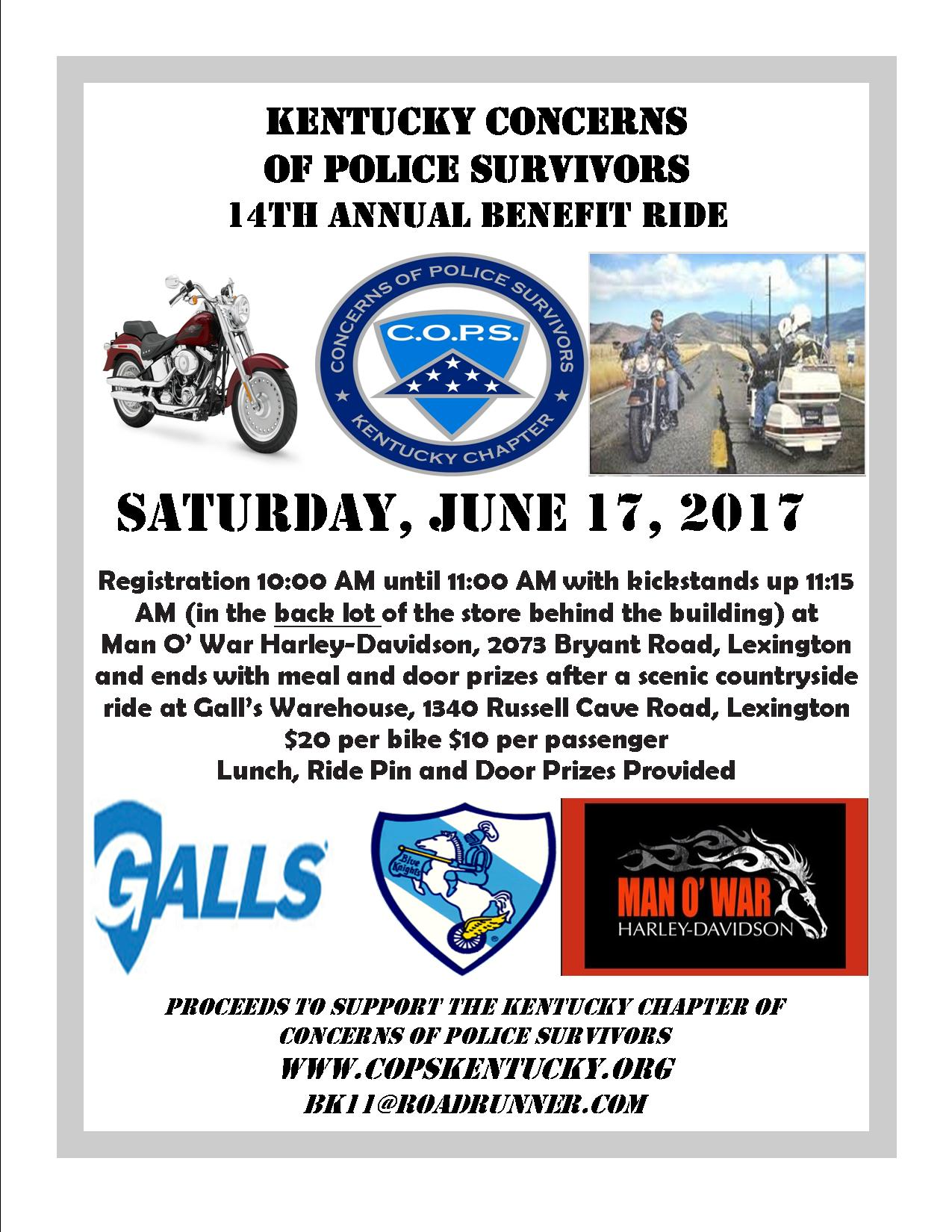 KY COPS Benefit Ride