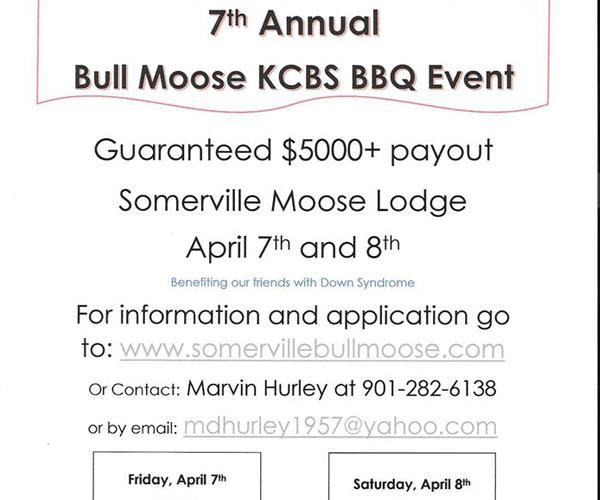 7th Annual Bull Moose KCBS BBQ Event
