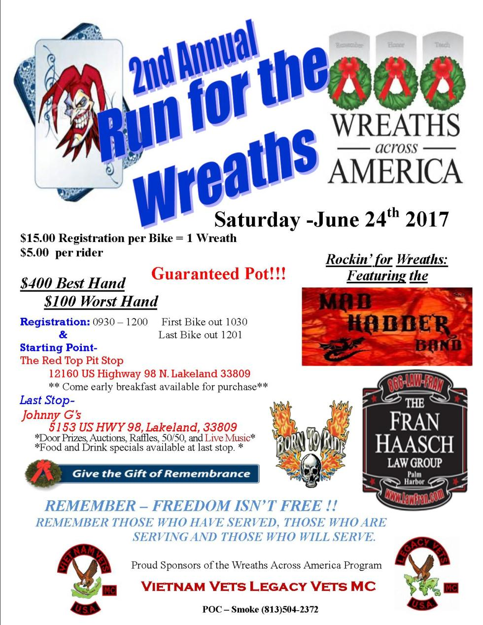 2017 Poker Run Flier 1