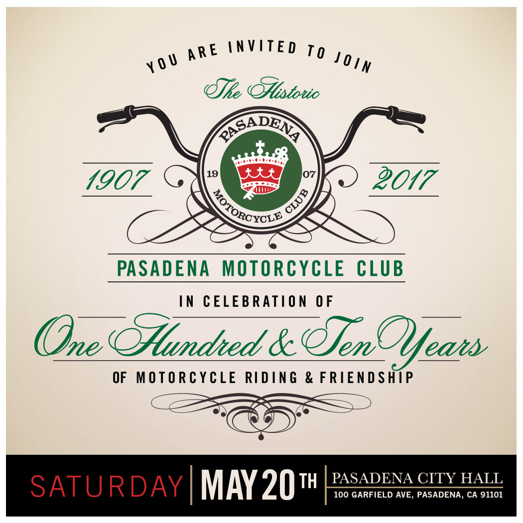 Pasadena Motorcycle Clubs 110th Anniversary Festival