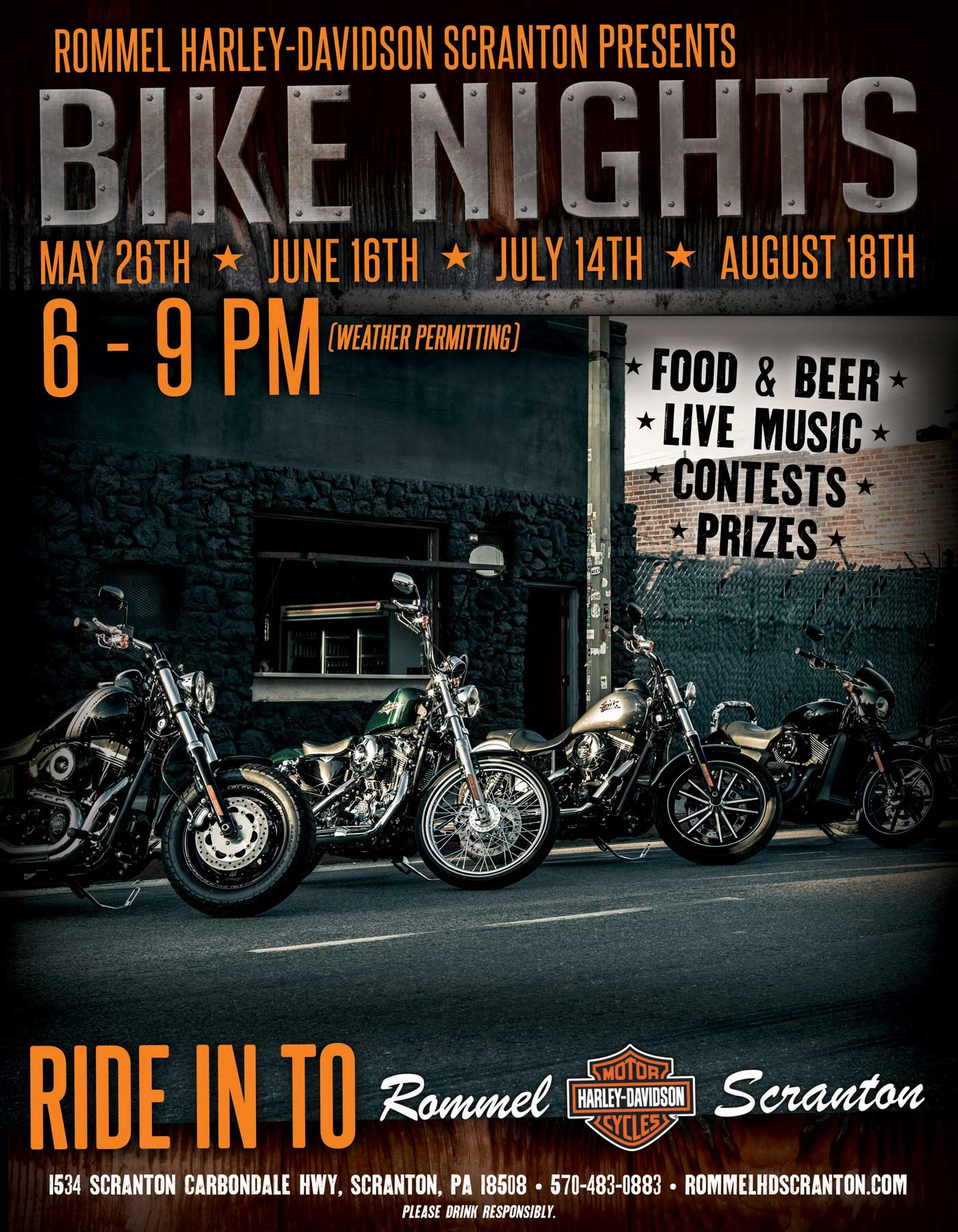 Friday Night Bike Night @ Scranton