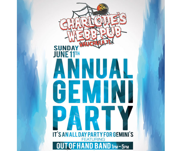Charlotte's Webb Annual Gemini Party