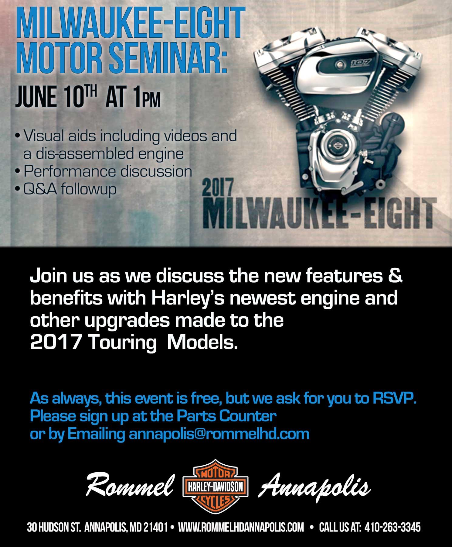 Milwaukee-Eight Seminar