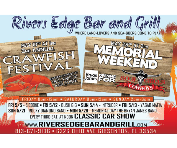 Rivers Edge Bar and Grill Memorial Weekend