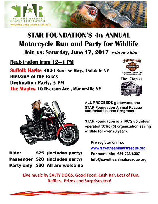 STAR Foundation's 4th Annual Motorcycle Run for Wildlife