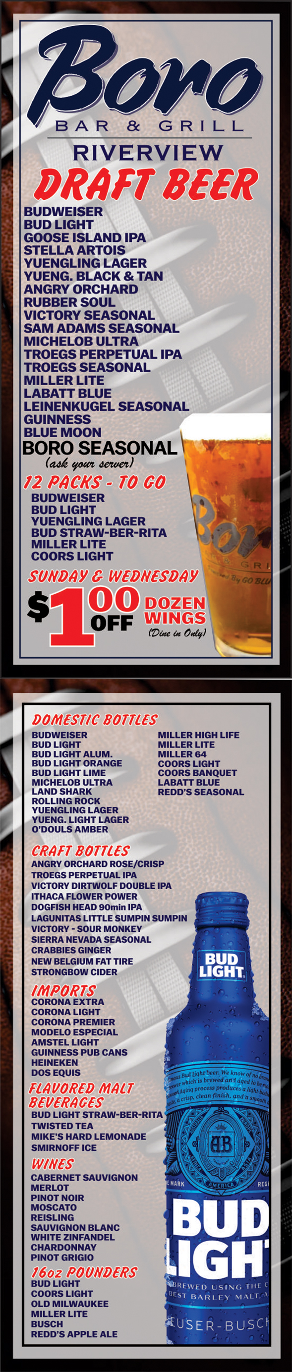 Beer Specials Welcome To Boro Bar Grill Serving The Hummelstown Harrisburg Areas
