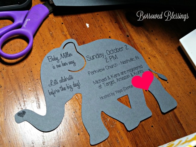 DIY Baby Shower Invitations - BorrowedBlessings.net