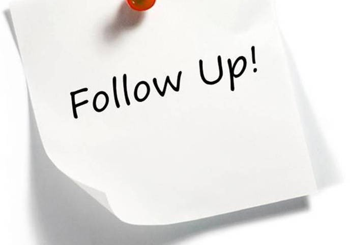 The power of a follow up Bosco Anthony - Business Growth Strategist