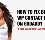 Fix Broken Contact Form 7 on WordPress Sites on Godaddy