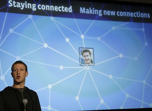 Mark Zuckerberg presenting the idea of Facebook Graph Search