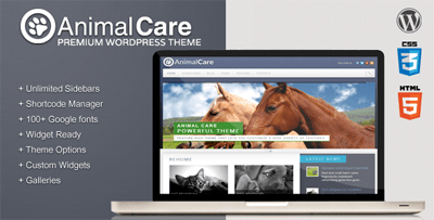 Animal Care Premium WordPress Theme