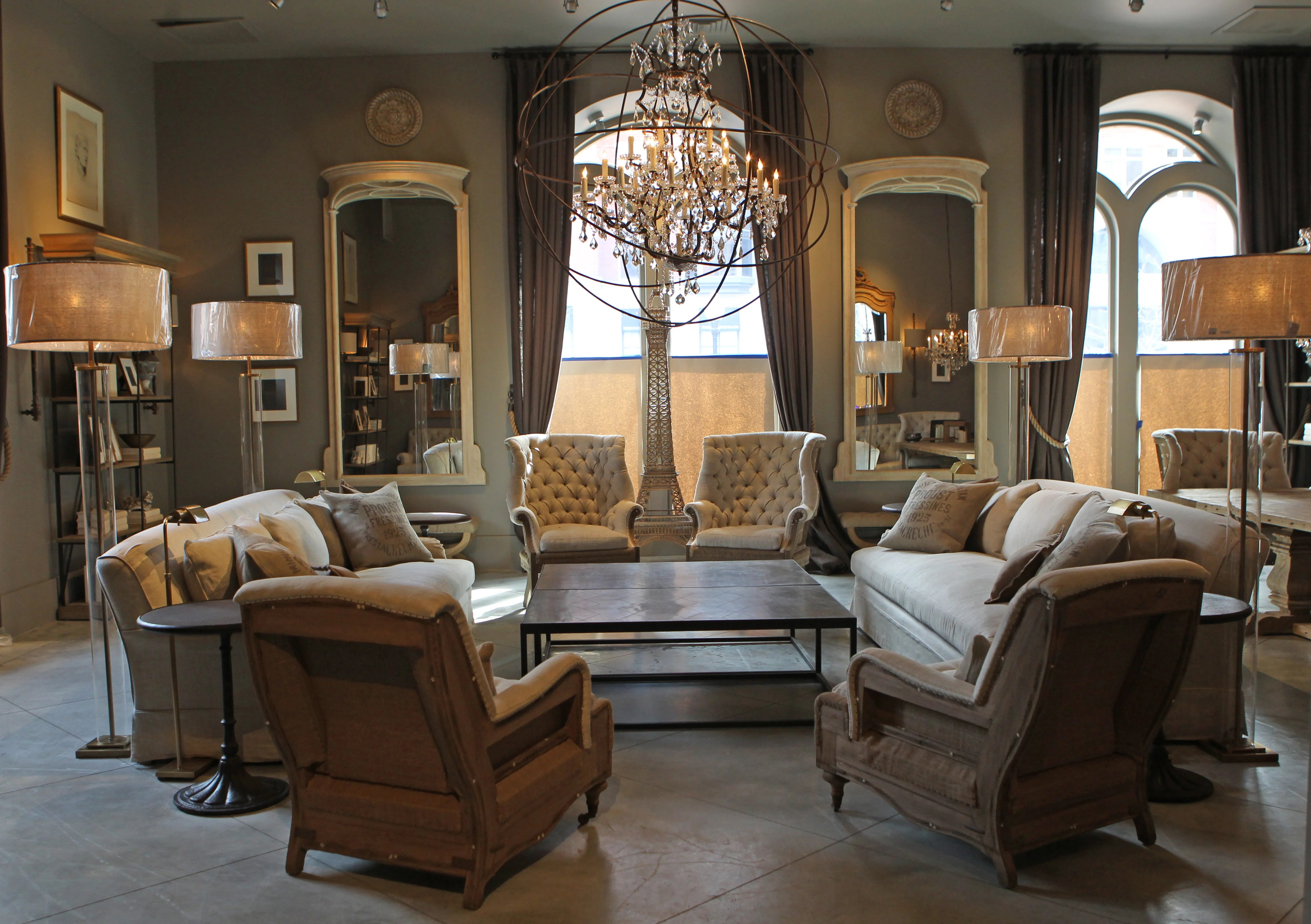 Rh Cloud Sofa Restoration Hardware Opens New Flagship Store