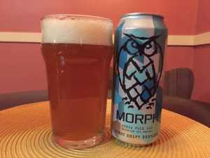 Morph IPA poured into a nonic pint glass.