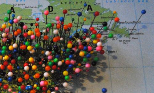 Map Pinning Boston Bostonography - pins on a map