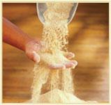 Hand and flour