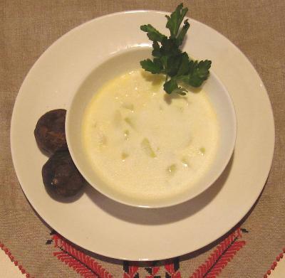 cream of desert truffles soup