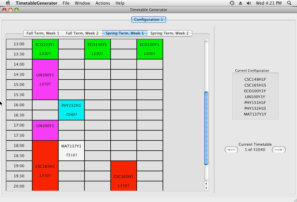 timetable creater - Towerssconstruction