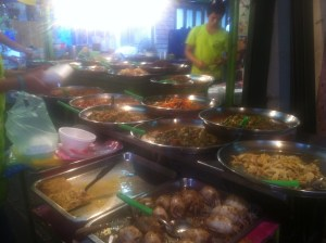 Delicious street food, a little more elaborate than typical