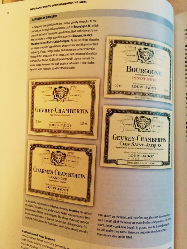 Excerpt from WSET Level 2 Book
