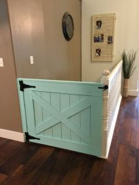 Half a barn door as a safety gate! | Bottled Up Designs