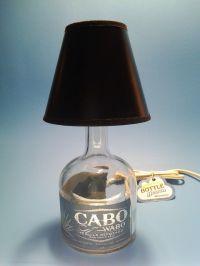 Cabo Wabo Liquor Bottle Table Lamp W/ Black Shade ...