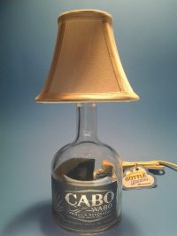 Cabo Wabo Liquor Bottle Table Lamp W/ White Shade ...