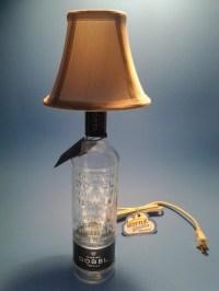 Dobel Tequila Liquor Bottle Table Lamp W/ White Shade ...