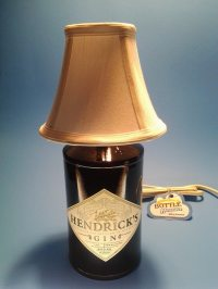 Hendricks Gin Liquor Bottle Table Lamp W/ White Shade ...