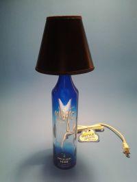 Milagro Tequila Liquor Bottle Table Lamp W/ Black Shade ...