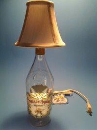Nassau Royal Liquor Bottle Table Lamp W/ White Shade ...