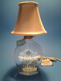 Partide Tequila Liquor Bottle Table Lamp W/ White Shade ...