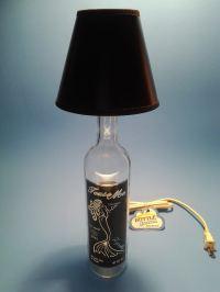 Tease Me Tequila Liquor Bottle Table Lamp W/ Black Shade ...