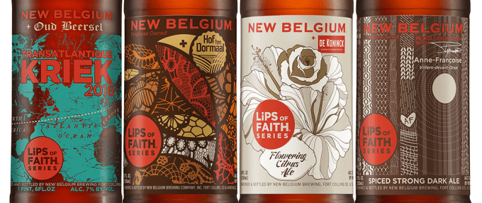 New Belgium Brewing's 2016 Lips of Faith collaboration beers   BottleMakesThree.com