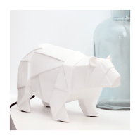 Lampe ours polaire origami