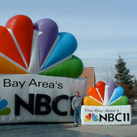 NBC Peacock Inflatable