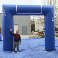 Blue Inflatable Race Arch