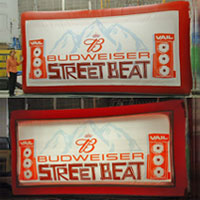Budweiser Streetbeat Inflatable Billboard