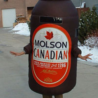 Molson Inflatable Costume