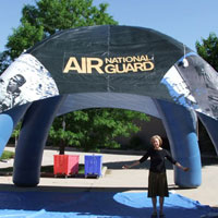 National Guard Inflatable Tent