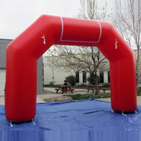 Red Inflatable Race Arch