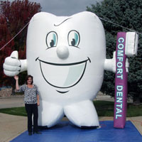 Toothy Inflatable Mascot