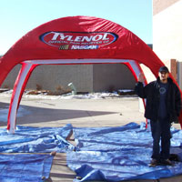 Tylenol Sealed Air Inflatable Tent