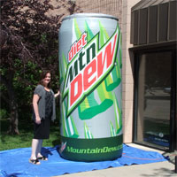 Diet Mountain Dew Inflatable Can