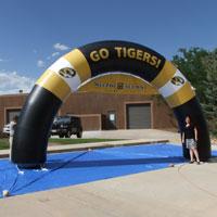 Mizzou Alumni Inflatable Archway Go Tigers