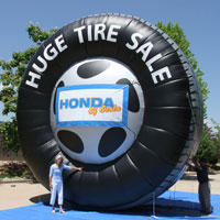 Morgan Inflatable Tire Huge Tire Sale